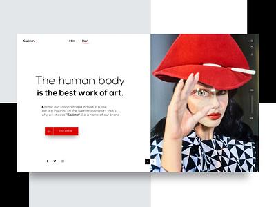 Kazimir - Landing page fashion website brand fashion typography design identity colors webdesign creative suprematism simple minimal uxdesign uiux ui xd design xd