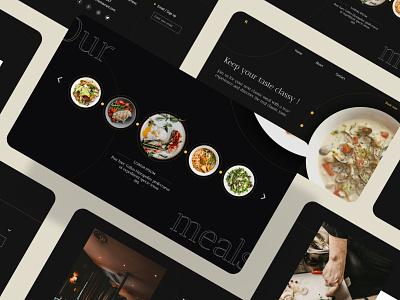 Rebound of Classic restaurant - Home page kit restaurant creative design ux identity color luxury minimal classic layout wireframe uiux ui landingpage homepage rebound