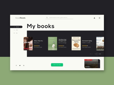 Goodreads - Webdesign experience design uiux grid layout website design xd design kit redesign webdesign identity ux ui logo color minimal design