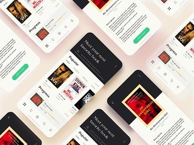Goodreads - Appdesign xd kit appdesign book uidesign ui  ux app icon ux ui color minimal creative design