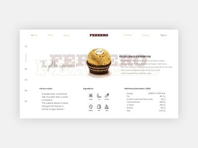 Ferrero rocher - Landing page