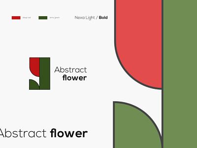 Abstract flower - Logo design minimal abstract logo abstract color branding logo design shop florist flower ai identity design creative brand logo