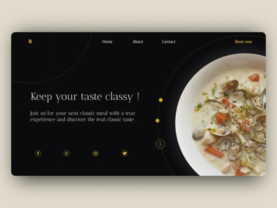 Classic restaurant - Landing page brand website homepage elegant webdesign typography landing page restaurant harmony clean classic luxury minimal color ai identity design user experience uiux ui