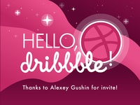 Hello, Dribbble! My first shot!