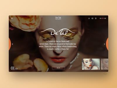 De'Tal Make up artist Web-site design
