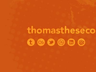 Landing Page orange social avenir halftone icons