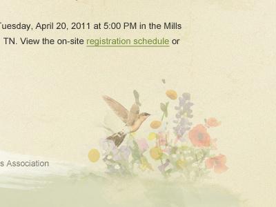 Spring Festival Website footer watercolor pastel