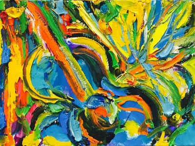 Colorful Guitar by BRUNI