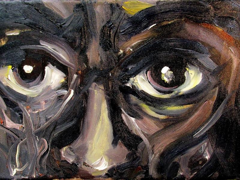 Miles Davis Eyes by BRUNI eyes fine art trumpet musician jazz miles davis