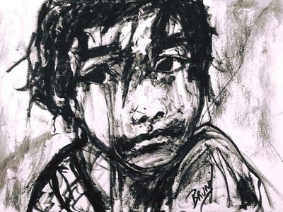 Refugee Child by BRUNI black and white children refugees refugee