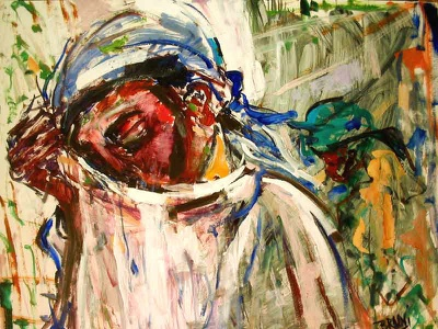 Africa Look At Us by BRUNI #074 Man Weeping portraiture people nigeria congo african