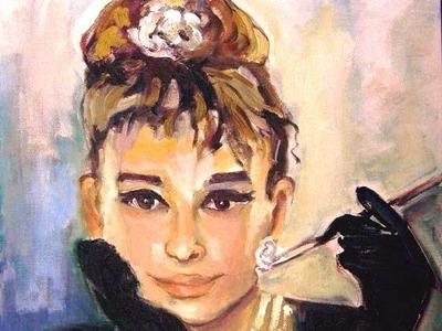 Audrey Hepburn by BRUNI bruni fine art hollywood actress celebrity people portraits audrey hepburn