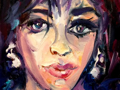 Elizabeth Taylor by BRUNI people fine art paintings portraits celebrity hollywood actress famous actress elizabeth taylor