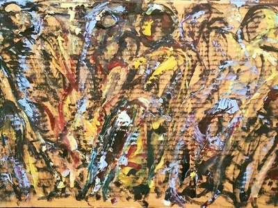 ABSTRACTIONS - INSPIRED BY AFRICA BY BRUNI people paintings fine art colorful art african design abstraction africa