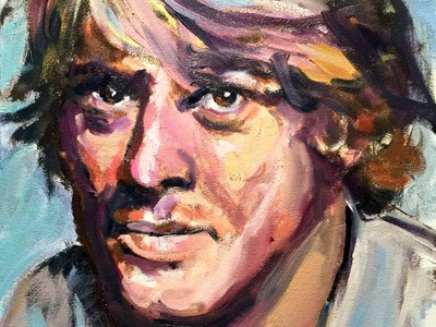Robert Redford by BRUNI fine art paintings portraits people celebrity famous actor paintings hollywood icons robert redford