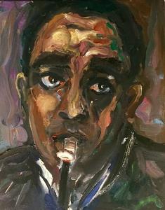 Charlie Parker 'Spooky Bird' by BRUNI jazz art jazz people celebrity paintings portraits fine art charlie parker