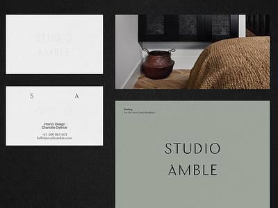 Studio Amble Branding layout design detail ui furnishing identity design branding design branding layout interior design