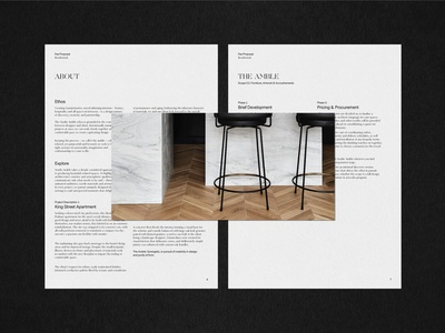Studio Amble Collateral interior design logo layout design layout typography design branding design branding