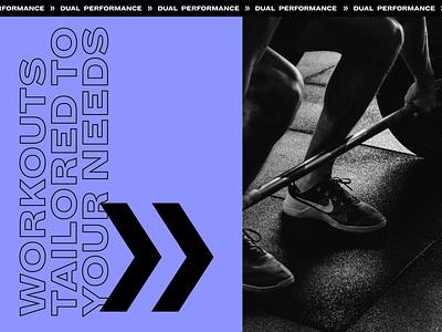 Dual Performance Advertising sport advertising brand design web design logo layout design typography design branding design layout branding