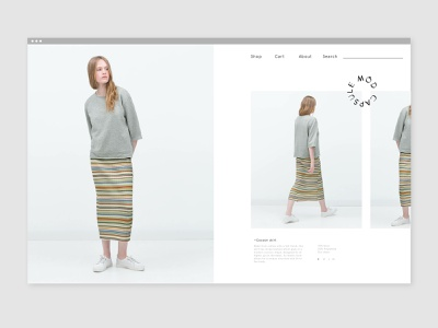 Capsule Mód Website ui fashion app fashion web design design website