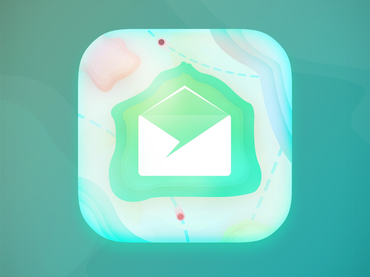 Mail icon mail app ios android app green dots photoshop icon mail