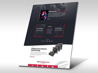 Gaming Affiliate Website ux wordpress elementor affiliate marketing