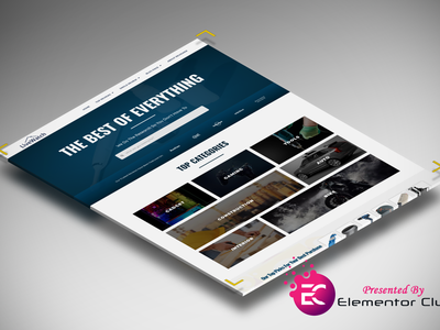 Homepage Template for Affiliate Website wordpress elementor affiliate marketing