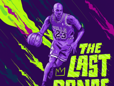 The Last Dance michael jordan basketball netflix vector illustrator photoshop procreate lettering illustration