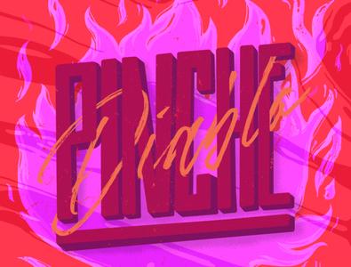 Pinche Diablo fire logo vector illustrations illustrator photoshop diablo lettering logo lettering art lettering letters letter illustration