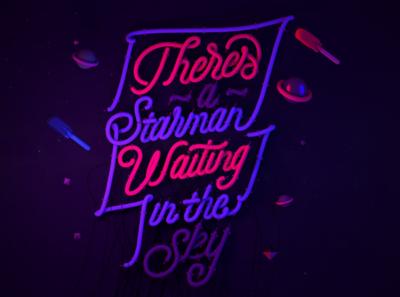 Starman illustrations illustrator design vector lettering cinema4d c4d 3d photoshop illustration