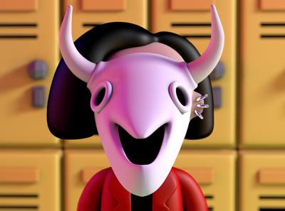 Jane Lane c4dart render cartoons cartoon 90s 90 characterdesign c4d cinema4d character mtv daria mtv dariamtv daria