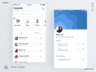 contacts app ui address book contacts