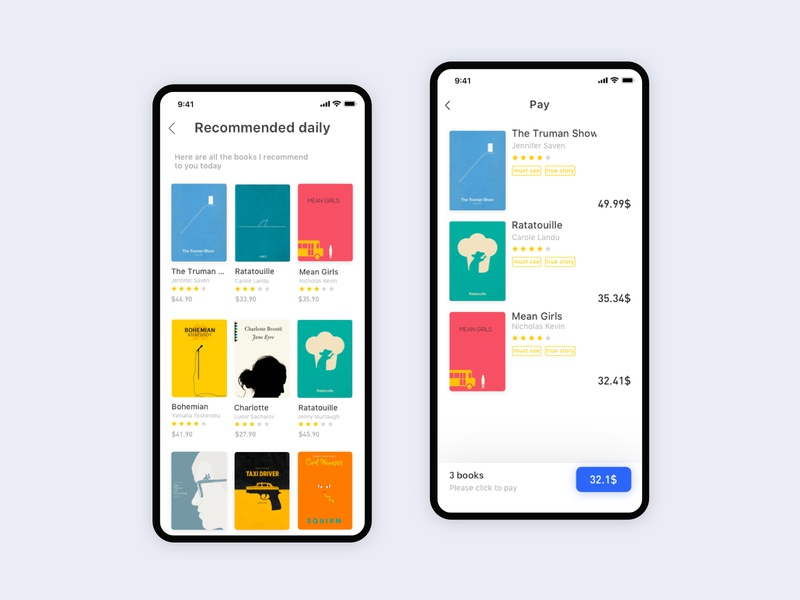 New Bookstore6 books app read ui