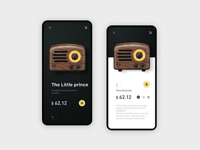 MUZEN RADIO app music app design design app ui