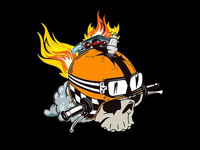 Moto Garage Logo concept concept skull garage moto design logo graphic badge