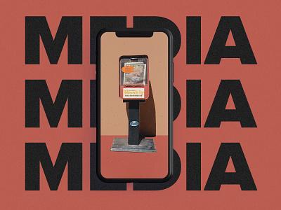 media dribbble iphone ux ui color blocking color photography photoshop media photoillustration illustration design typography
