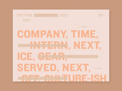 Preview of upcoming project editorial skincare beige tan strikethrough crossout knockout vintage neutrals pink typography