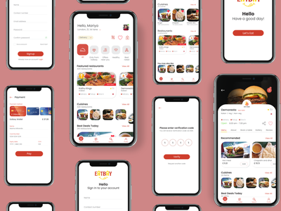 Food and Restaurant Explore App restaurant food explore app mobile design mobile app ui ux design