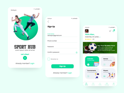 sport mobile app signup welcome home mobile design app mobile app ui design