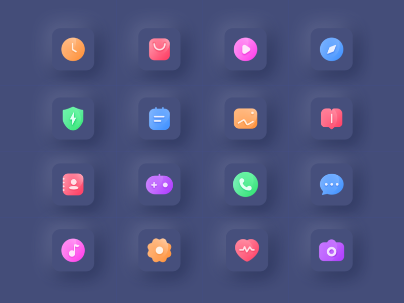 Mobile theme design icon ui