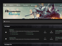 Revolution Gaming MyBB theme