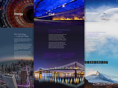 Fiber Markets infographic photography aerospace energy civil markets ui website