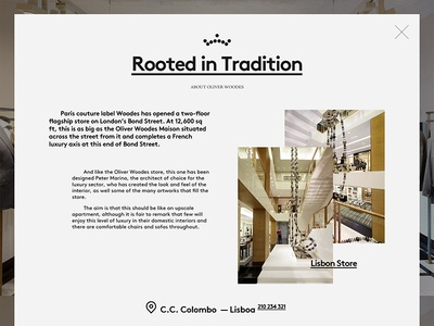 Lightbox Rooted in Tradition store fashion contacts grotesk lightbox