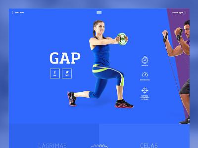 GAP sport burguer blue flat fitness fit target minutes intensity workout gap gym