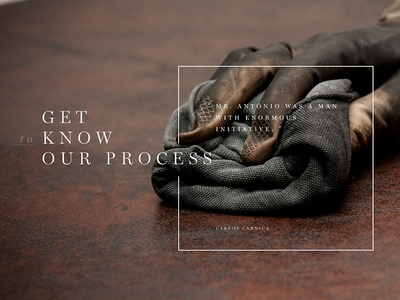 Leather Footer process website type footer classical leather
