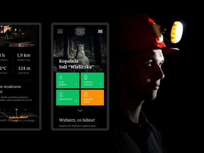 Wieliczka Salt Mine - mobile culture mine web website design web design website mobile design photography mobile