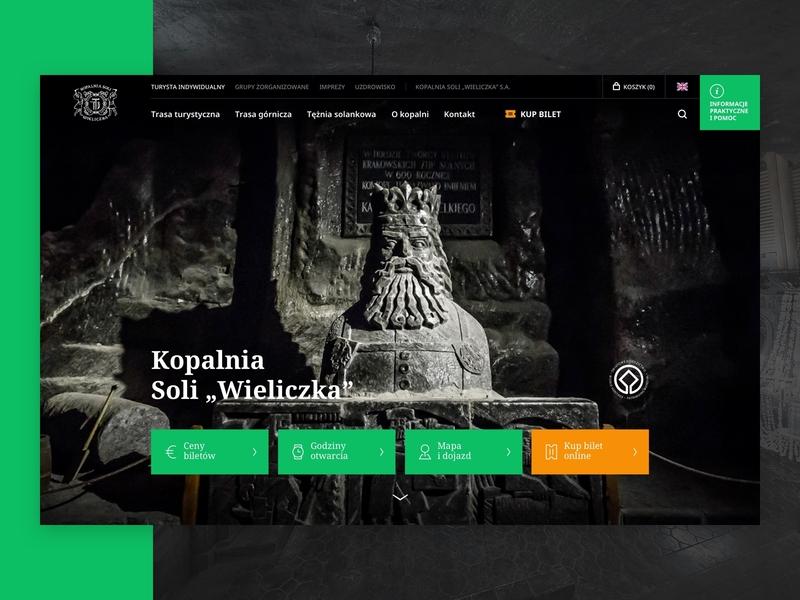 Wieliczka Salt Mine - desktop website design salt ui website web design web photography mobile design mobile culture mine