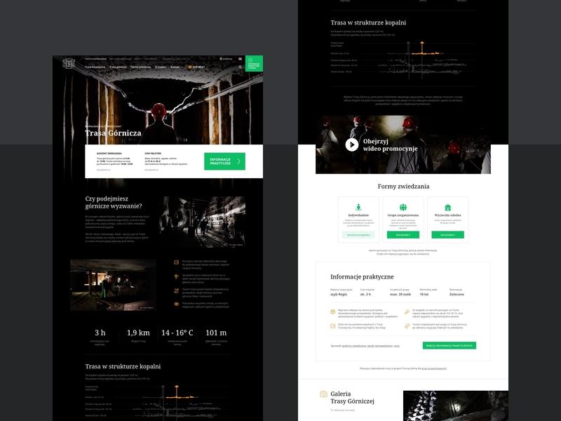 Wieliczka Salt Mine - Miners' route ux design salt website turist attraction interface culture website design web web design mine