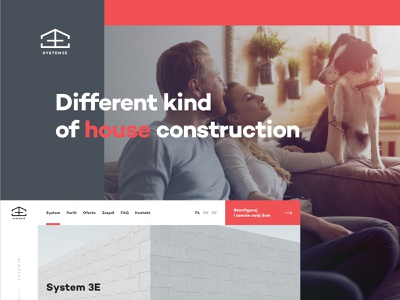 System 3E - About page grid layout clean web website web design