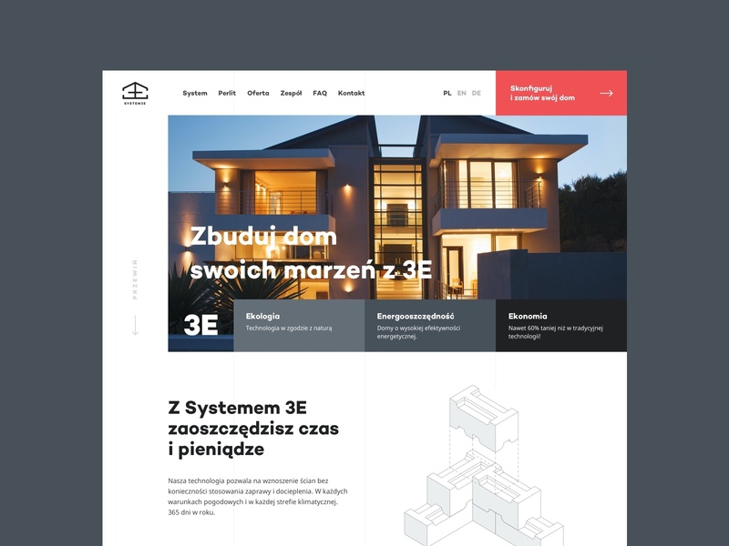 System 3E - Homepage house layout web design web website grid clean